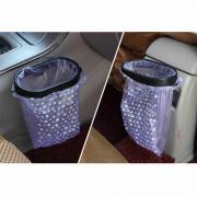 Универсальный мусорный бак с рамкой для автомобиля голубой Li Wen LW-1615 (набор 2 пакета + крепление)