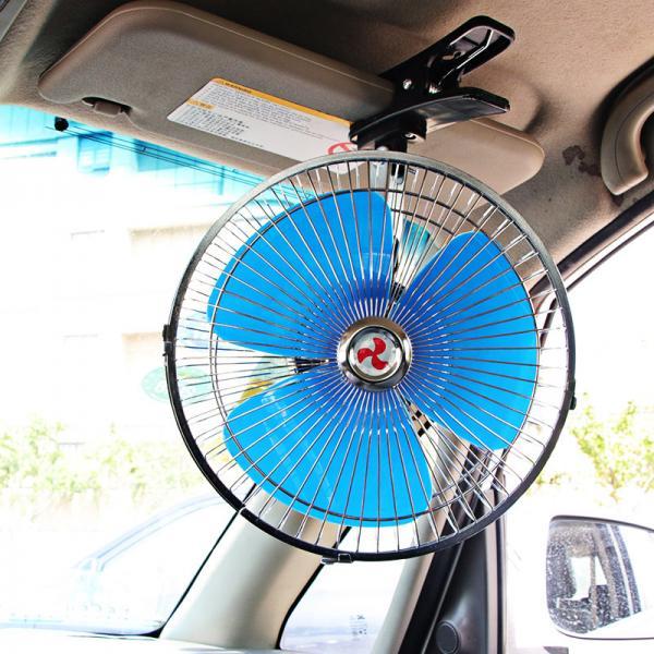 Вентилятор автомобильный с зажимом TIANJIN 12CLJ