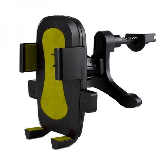 Автодержатель на решетку 360 для телефона, смартфона, навигатора Shunwei SD-8716 (черный)