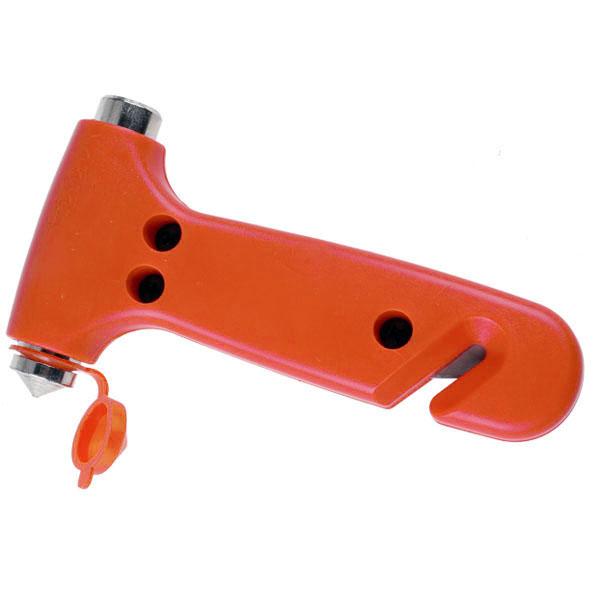 Аварийный молоток красного цвета с резцом для разбития стекла AUMOHALL JHC-185