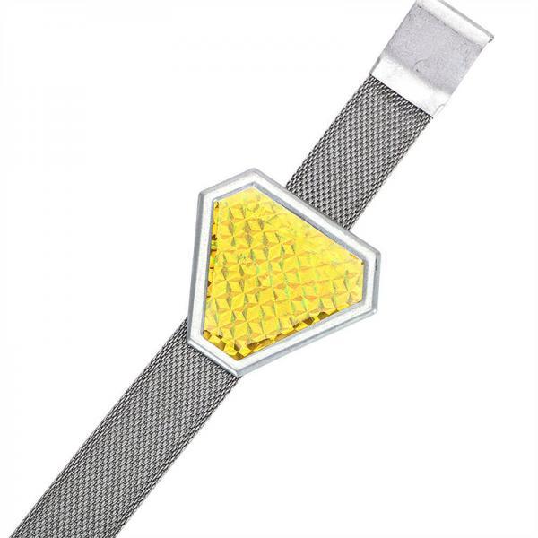 Ремень на выхлопную трубу со светоотражающим треугольником 2 в 1 LEEPEE 13056 (желтый)