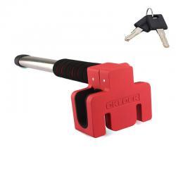 Механическое противоугонное устройство для автомобиля на руль OKLOCK T6-R (красный)