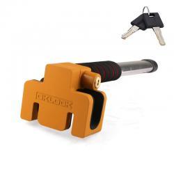 Механическое противоугонное устройство для автомобиля на руль OKLOCK T6-Y (желтый)