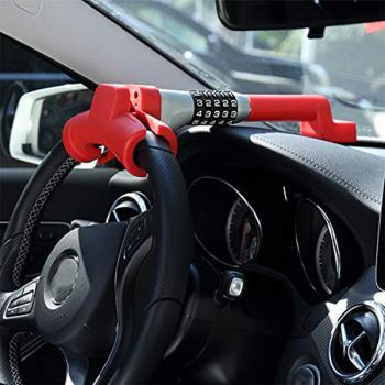 Механическое противоугонное устройство для автомобиля на руль и торпеду Mercochan MCH-726R (красный)