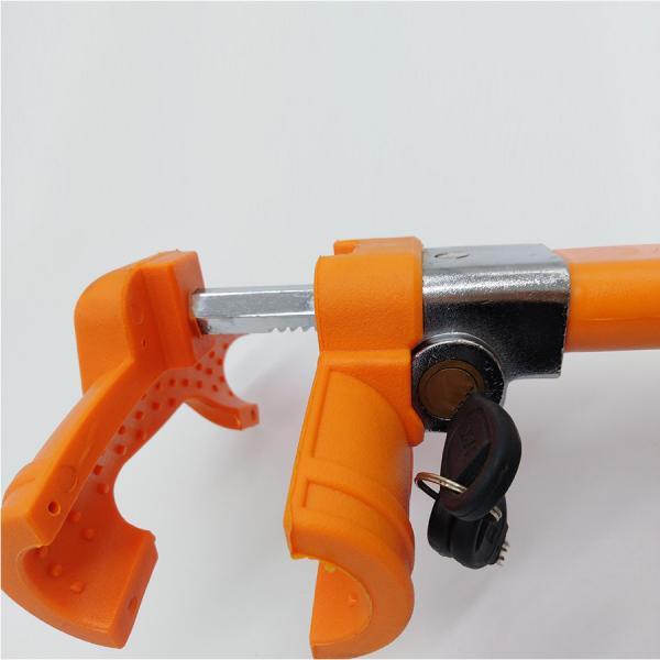 Механическое противоугонное устройство для автомобиля на руль и торпеду Naiteke Suo НNS-17A (оранжевый)
