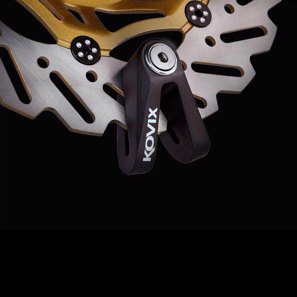 Механическое противоугонное устройство для мотоцикла - мотоциклетный дисковый замок KOVIX KVS2 (черный)