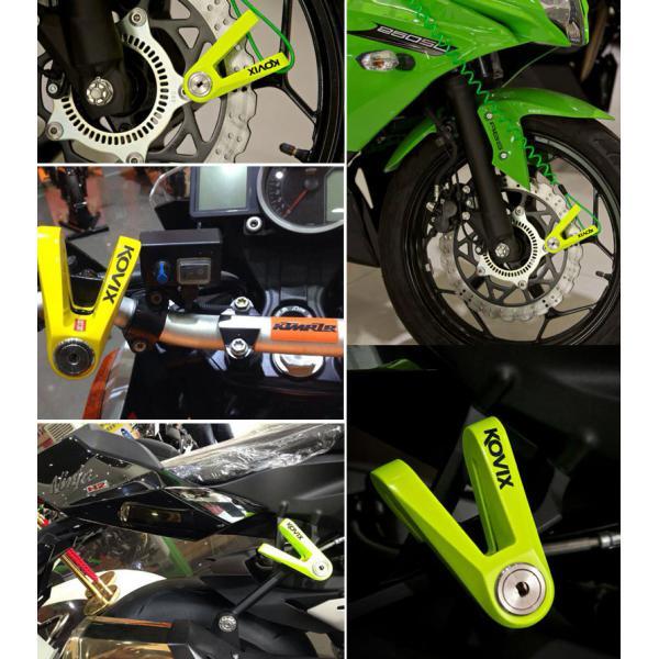 Механическое противоугонное устройство для мотоцикла - мотоциклетный дисковый замок KOVIX KVS/C2 (салатный)