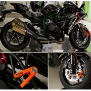 Механическое противоугонное устройство для мотоцикла - мотоциклетный дисковый замок KOVIX KVS/C (оранжевый)