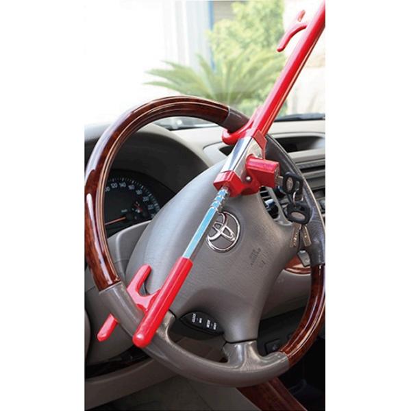 Механический блокиратор для Авто на руль+ педаль+ коробка передач Oklead OKL6891 (красный зонтик-вилка)