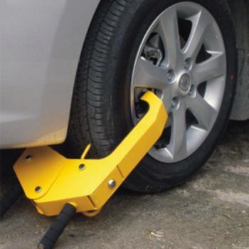 Механическое противоугонное устройство для автомобиля на автомобильное колесо Kinouwell KS-WL-04 (желтый)