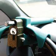Механическое противоугонное устройство для автомобиля на руль и торпеду Defend Lock F-18B (зеленый)
