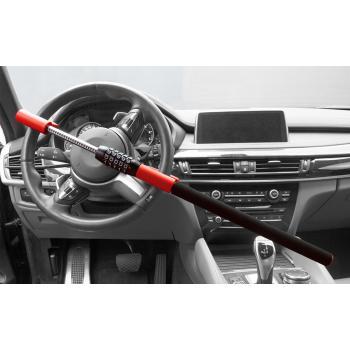 Механический блокиратор для автомобиля на руль с кодовым замком YIF 12606 красного цвета ( VIP )