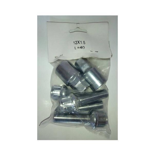 Наружные секретки на колесса под проставки (колесные болты - сфера) O.Z. М12х1.5, L-40