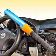 Механический блокиратор руля для автомобиля  на руль  Alca V3000 ( БИТА) Оранжевого  цвета