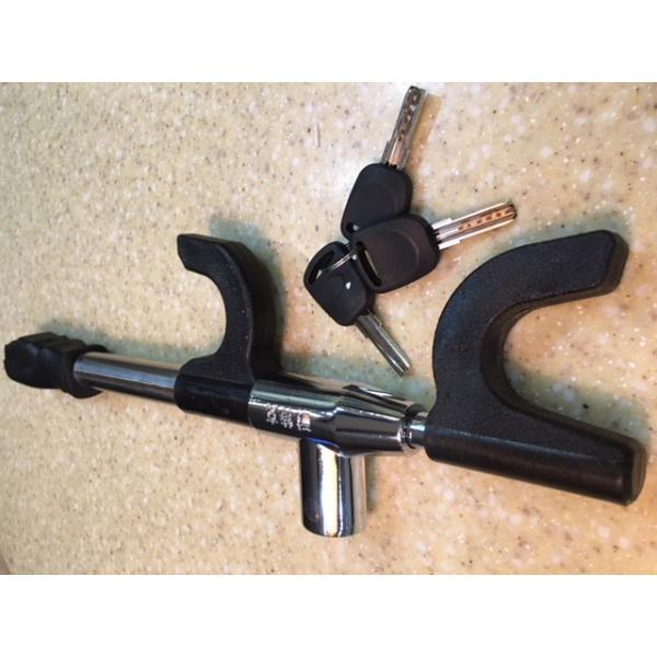 Механическое противоугонное устройство блокиратор на руль (ТИП БЛОКИРАТОР МЕТАЛИК )