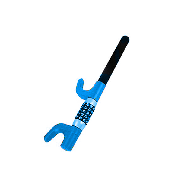 Блокиратор на руль YIF 12606 Синий (защитная пленка под ручки авто против царапин в комплекте)