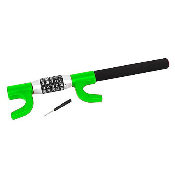 Блокиратор на руль YIF 12606 Зеленый (защитная пленка под ручки авто против царапин в комплекте)