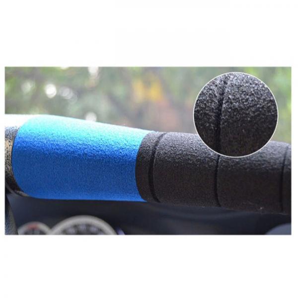 Механический блокиратор руля Alca V3000 Синий (защитная пленка под ручки авто против царапин в комплекте)