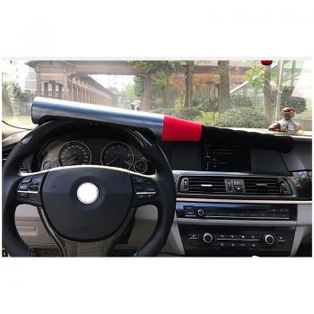 Механический блокиратор руля для автомобиля на руль Alca V3000 ( БИТА) розового цвета